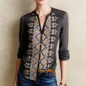 Anthropologie Tops - Anthropologie Tiny Eden Flora Embroidery Top